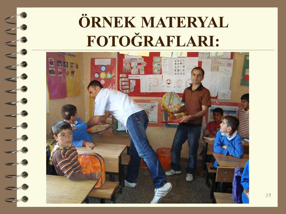 ÖRNEK MATERYAL FOTOĞRAFLARI: