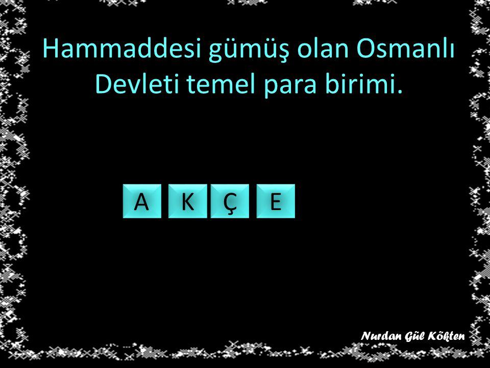 Hammaddesi gümüş olan Osmanlı Devleti temel para birimi.