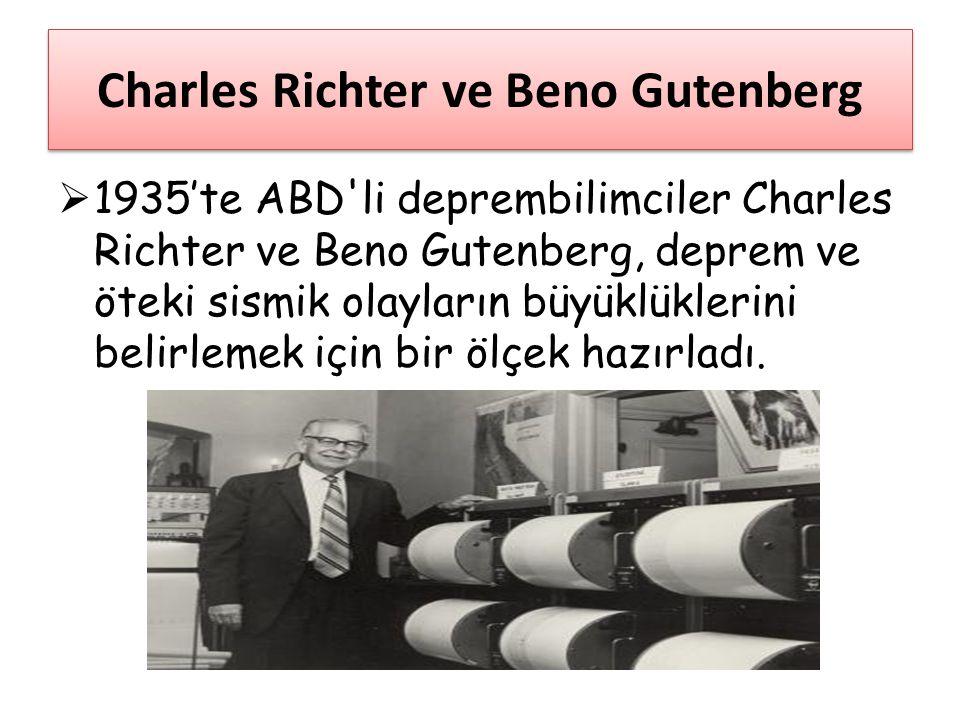 Charles Richter ve Beno Gutenberg