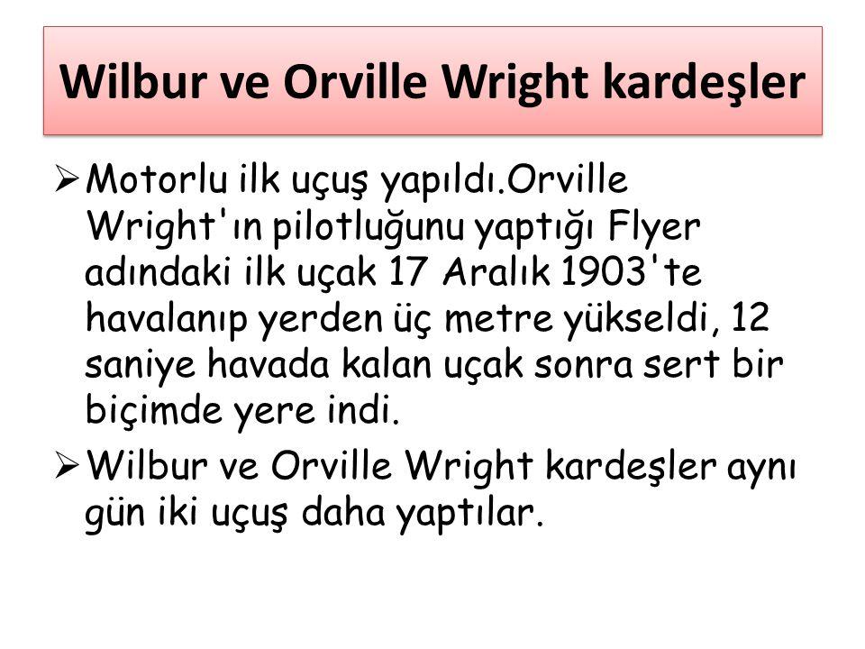 Wilbur ve Orville Wright kardeşler