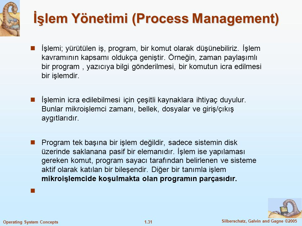 İşlem Yönetimi (Process Management)