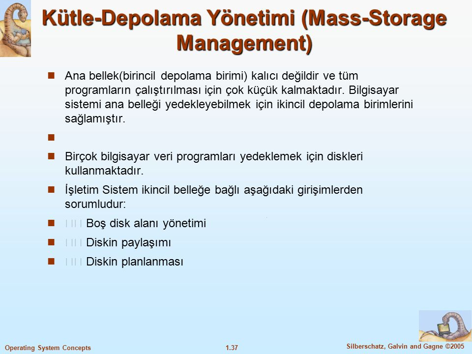 Kütle-Depolama Yönetimi (Mass-Storage Management)