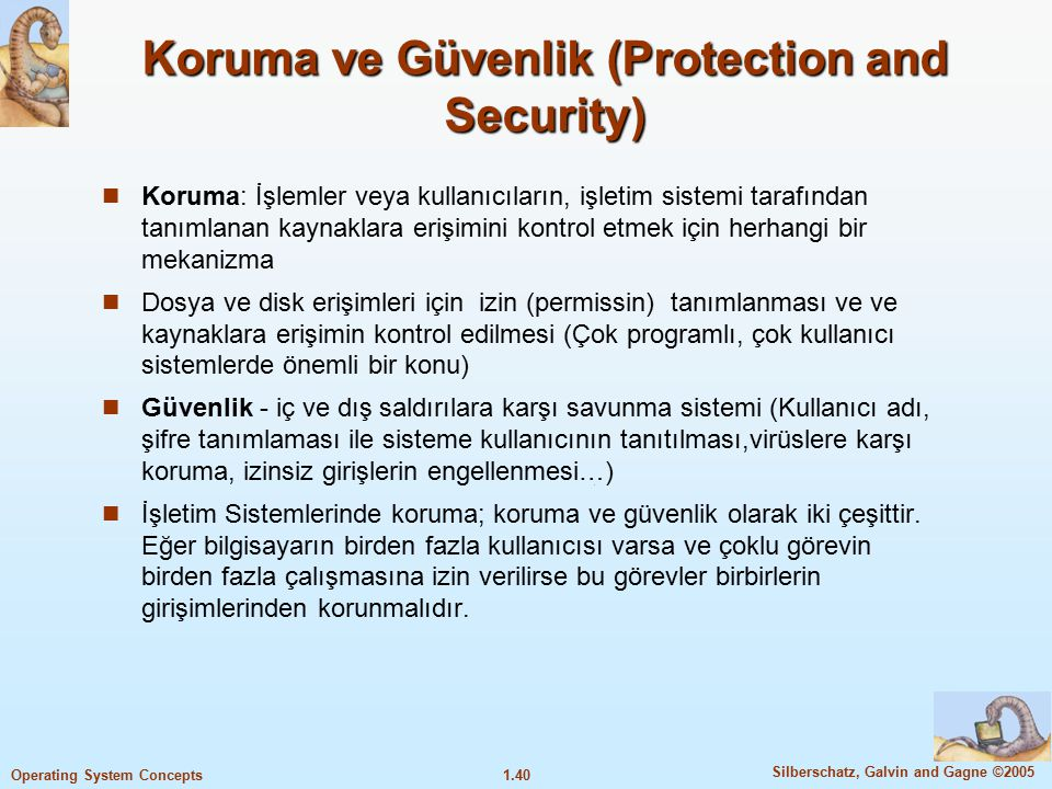 Koruma ve Güvenlik (Protection and Security)