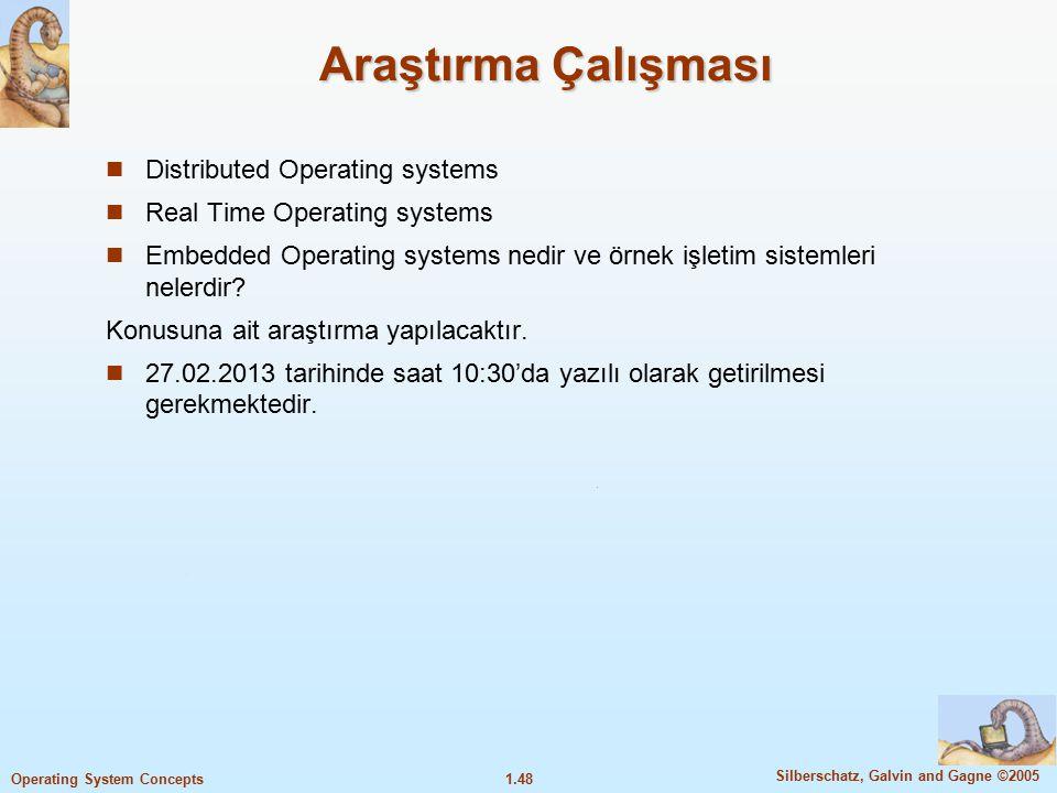 Araştırma Çalışması Distributed Operating systems