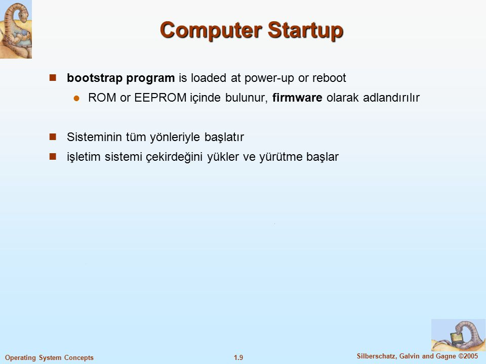 Computer Startup bootstrap program is loaded at power-up or reboot