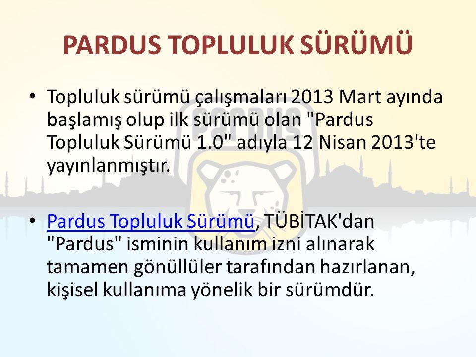PARDUS TOPLULUK SÜRÜMÜ
