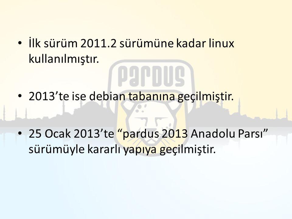 İlk sürüm 2011.2 sürümüne kadar linux kullanılmıştır.