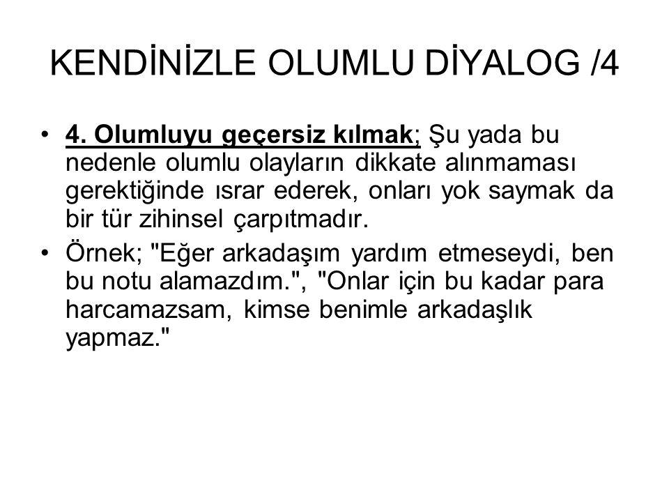 KENDİNİZLE OLUMLU DİYALOG /4