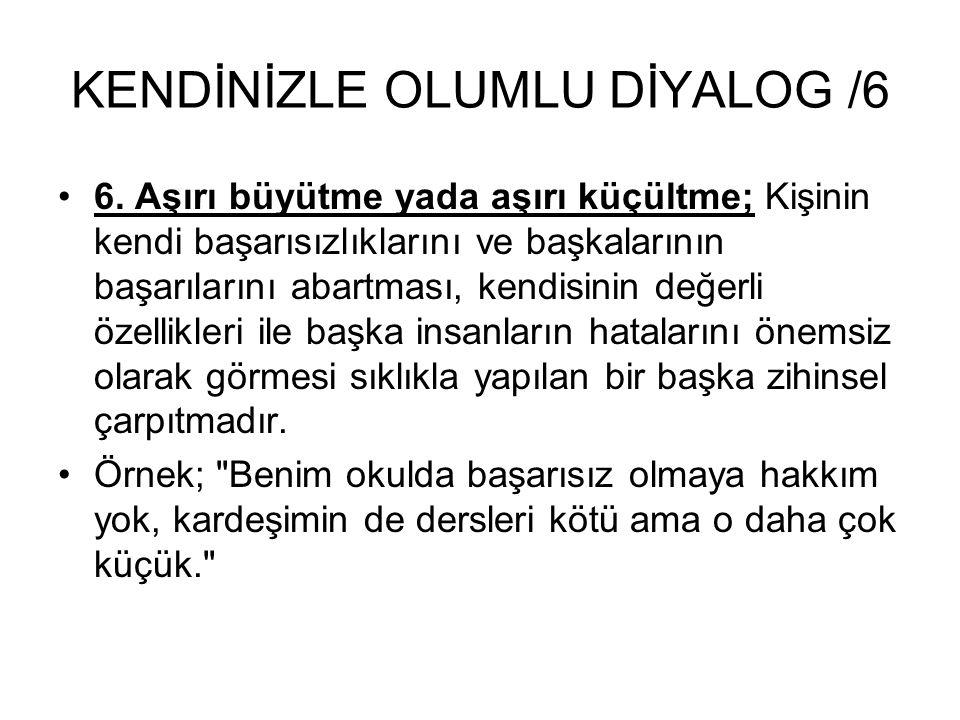 KENDİNİZLE OLUMLU DİYALOG /6