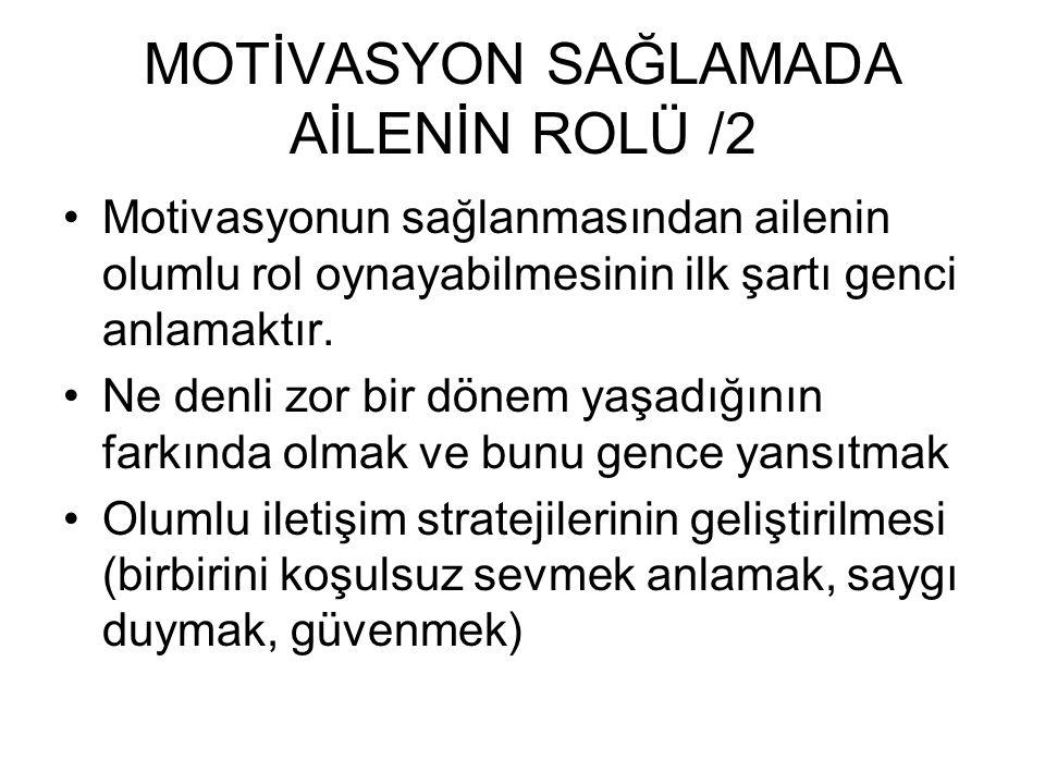 MOTİVASYON SAĞLAMADA AİLENİN ROLÜ /2