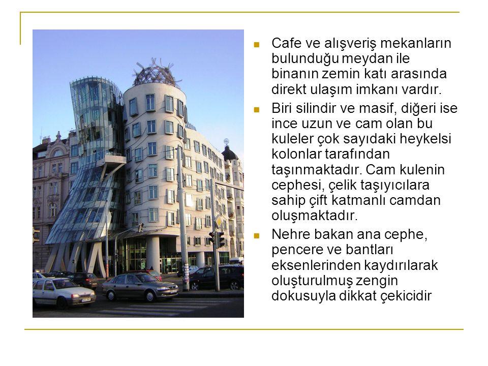 Cafe ve alışveriş mekanların bulunduğu meydan ile binanın zemin katı arasında direkt ulaşım imkanı vardır.