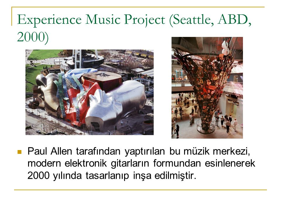 Experience Music Project (Seattle, ABD, 2000)