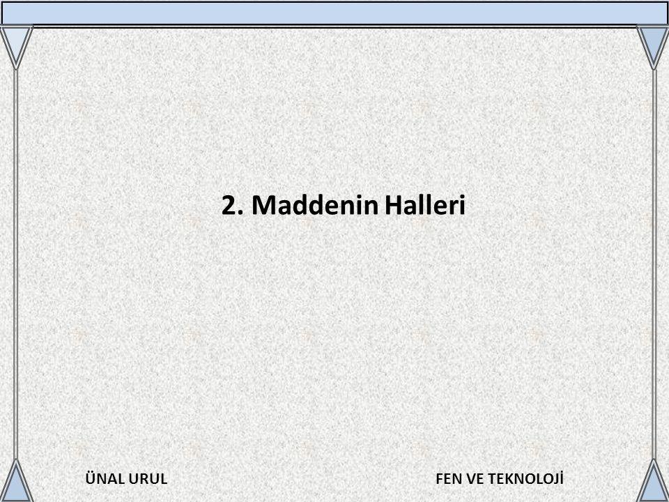 2. Maddenin Halleri