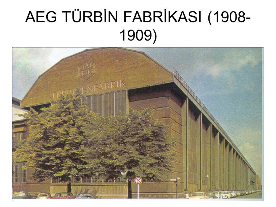 AEG TÜRBİN FABRİKASI (1908-1909)