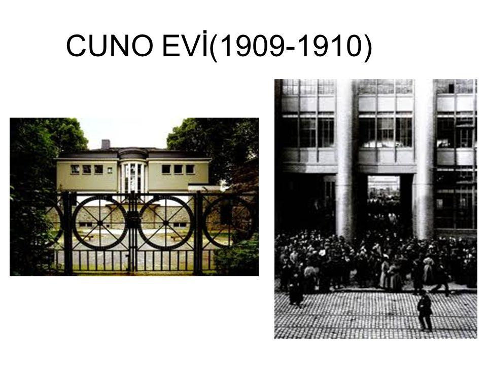 CUNO EVİ(1909-1910)
