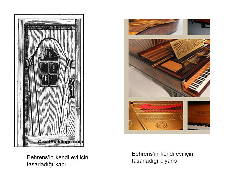 Behrens'in kendi evi için tasarladığı piyano