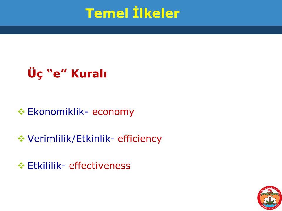 Üç e Kuralı Temel İlkeler Ekonomiklik- economy