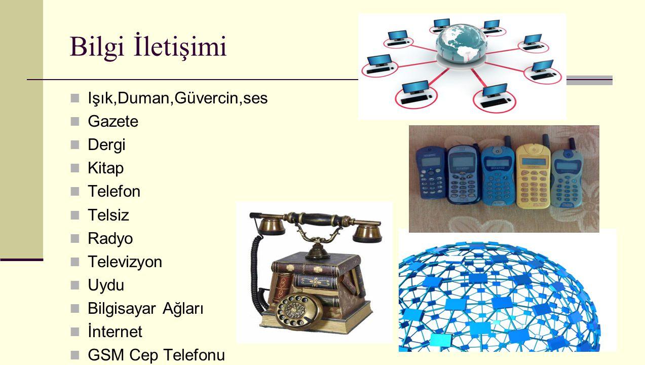Bilgi İletişimi Işık,Duman,Güvercin,ses Gazete Dergi Kitap Telefon