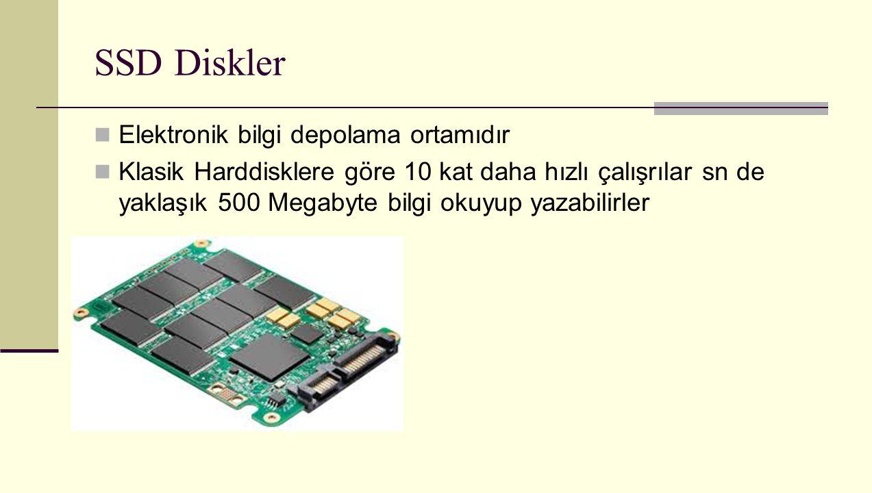 SSD Diskler Elektronik bilgi depolama ortamıdır
