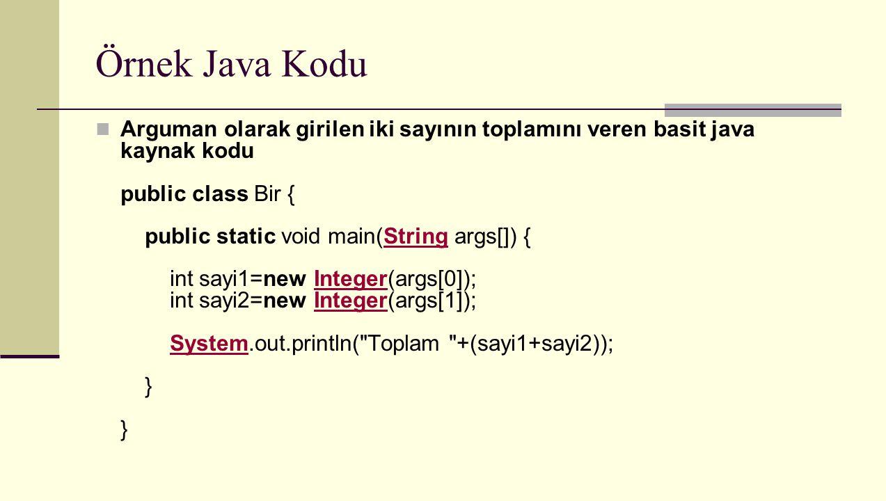 Örnek Java Kodu