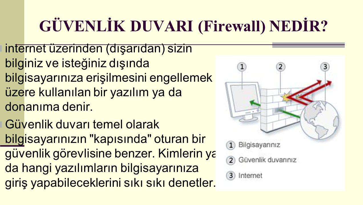 GÜVENLİK DUVARI (Firewall) NEDİR