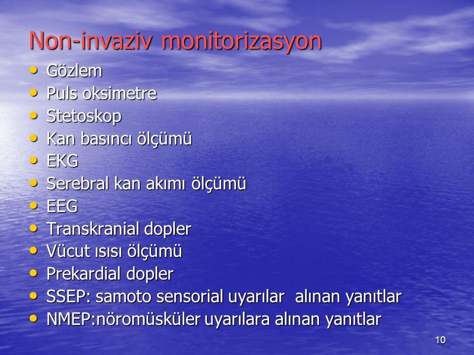 Non-invaziv monitorizasyon