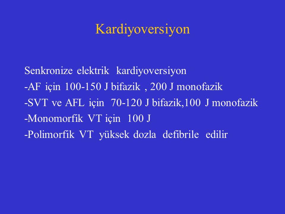 Kardiyoversiyon Senkronize elektrik kardiyoversiyon