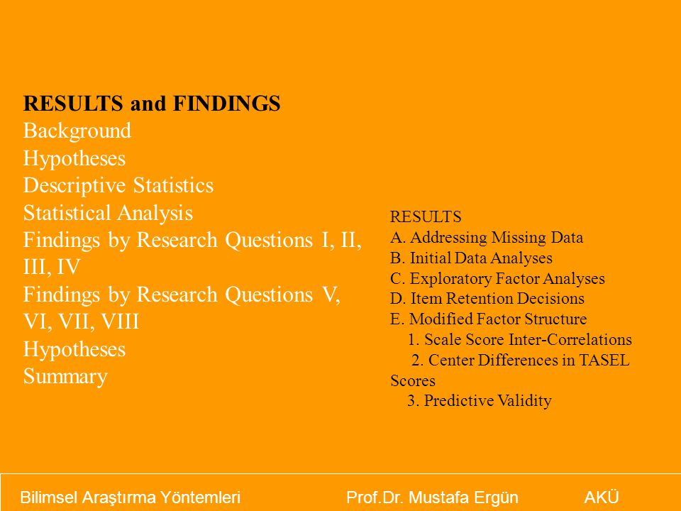 Descriptive Statistics Statistical Analysis