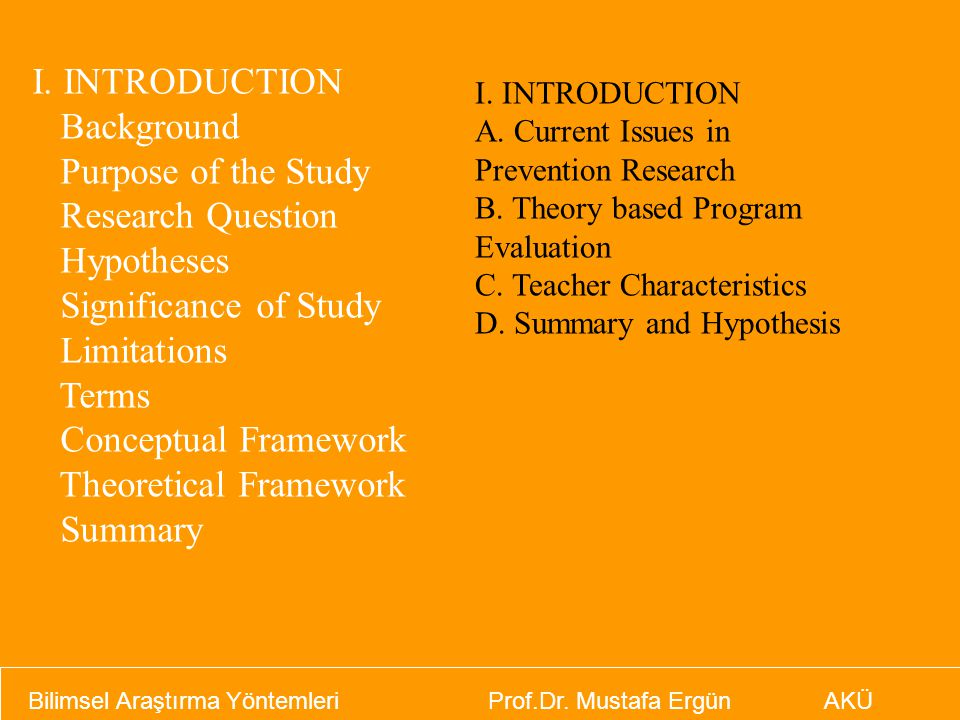 Theoretical Framework Summary
