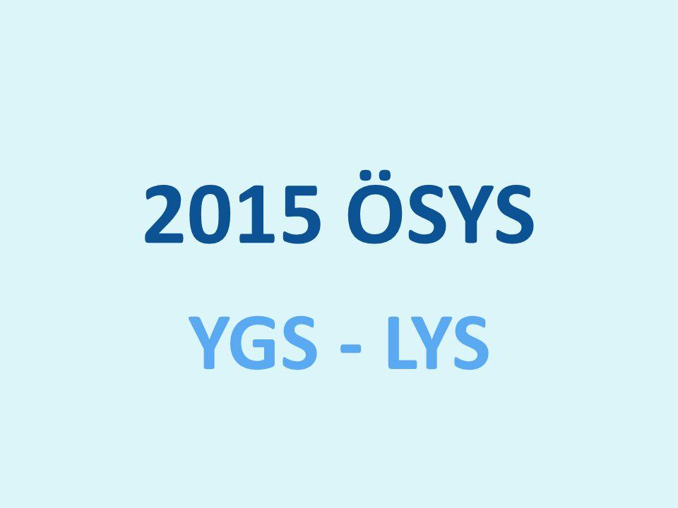2015 ÖSYS YGS - LYS