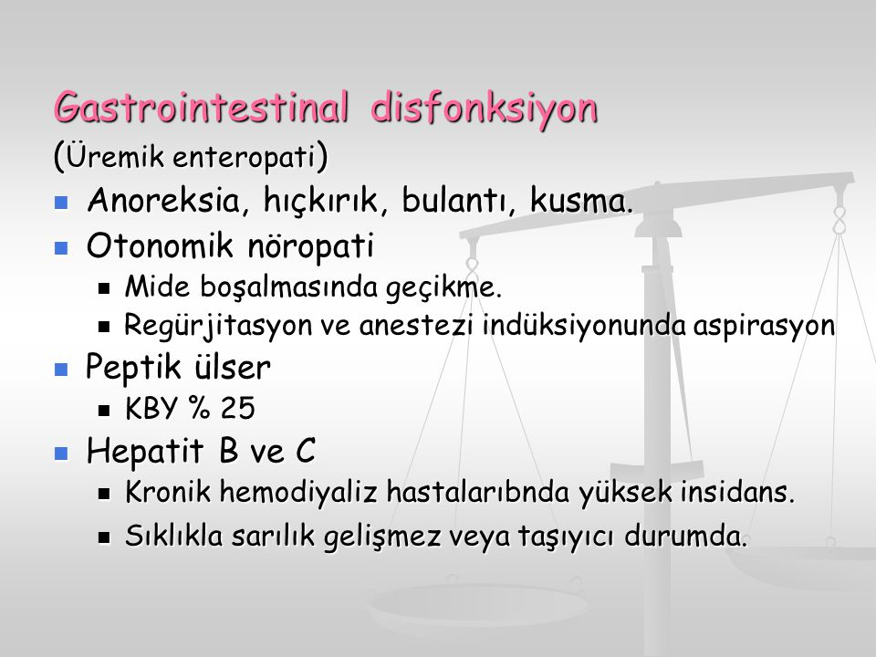 Gastrointestinal disfonksiyon
