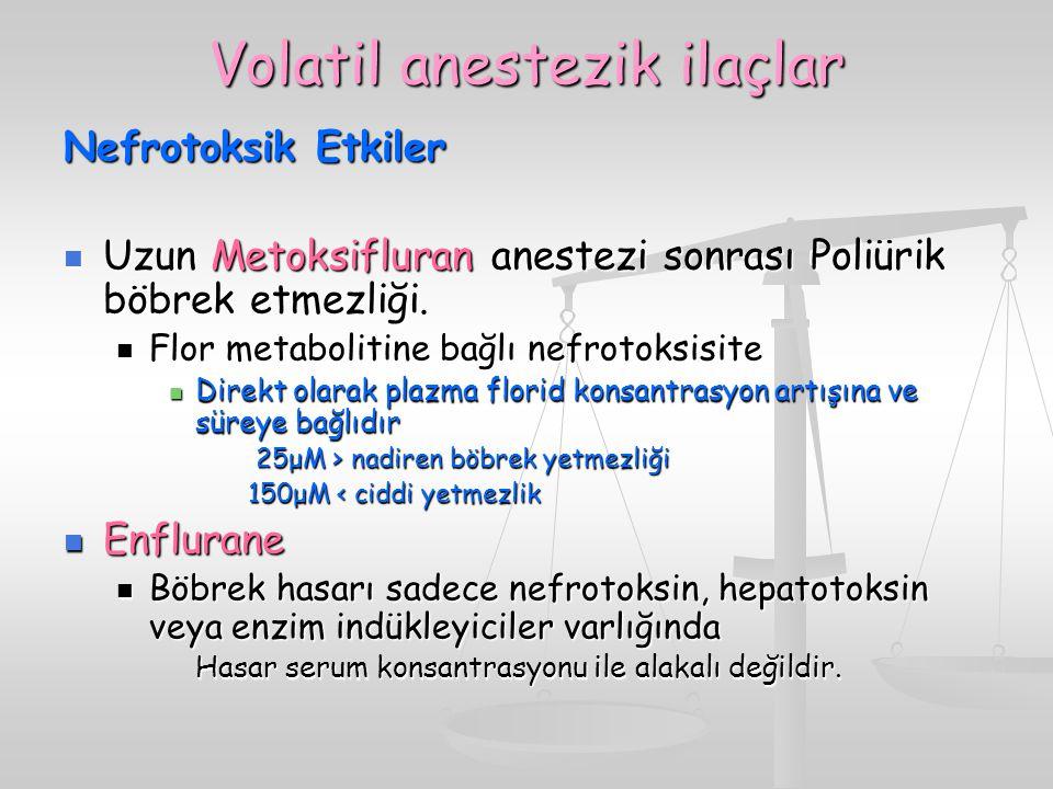 Volatil anestezik ilaçlar
