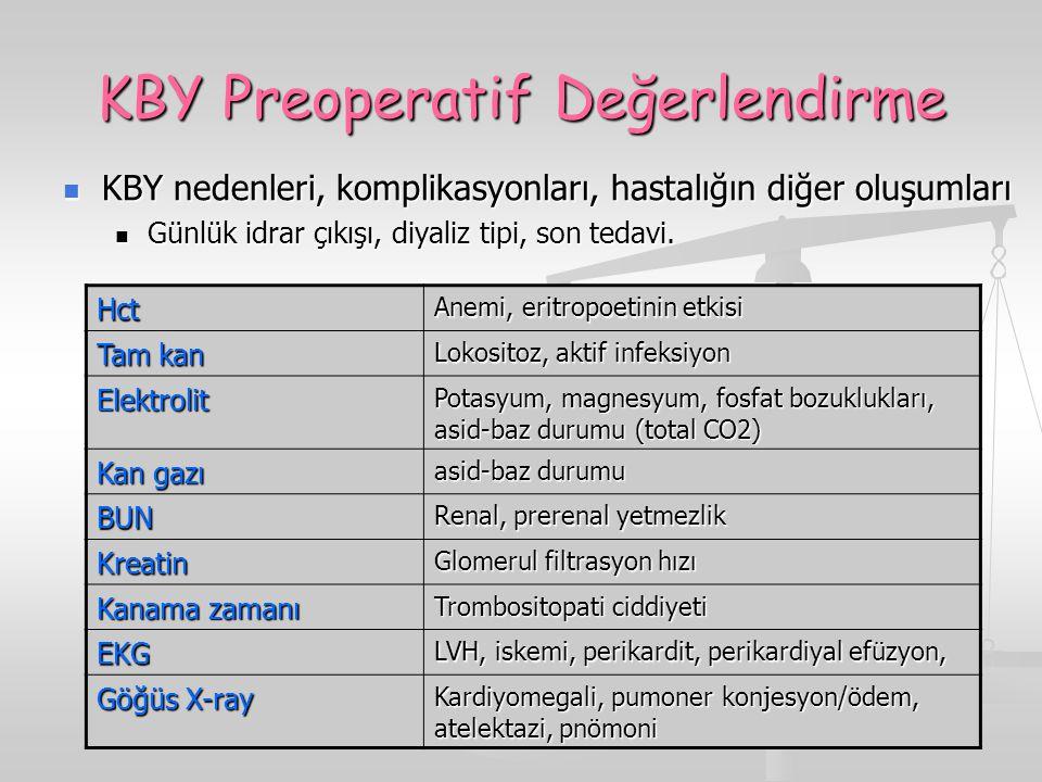 KBY Preoperatif Değerlendirme
