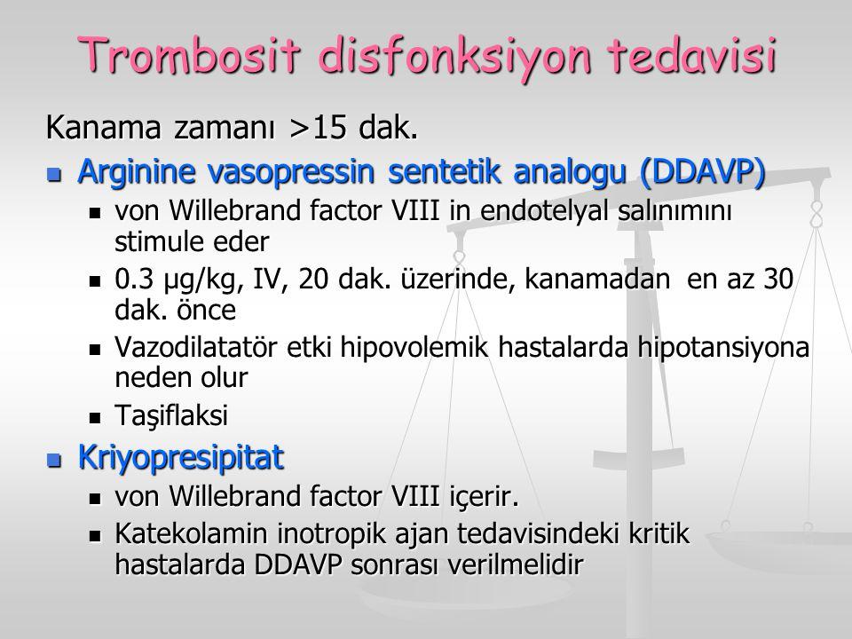 Trombosit disfonksiyon tedavisi
