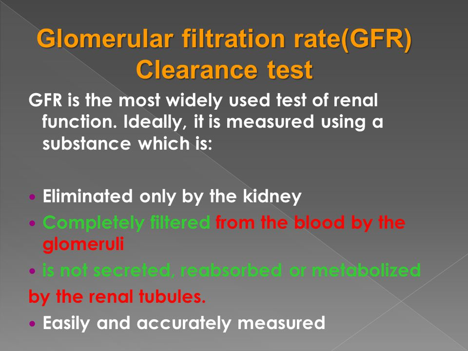 Glomerular filtration rate(GFR)