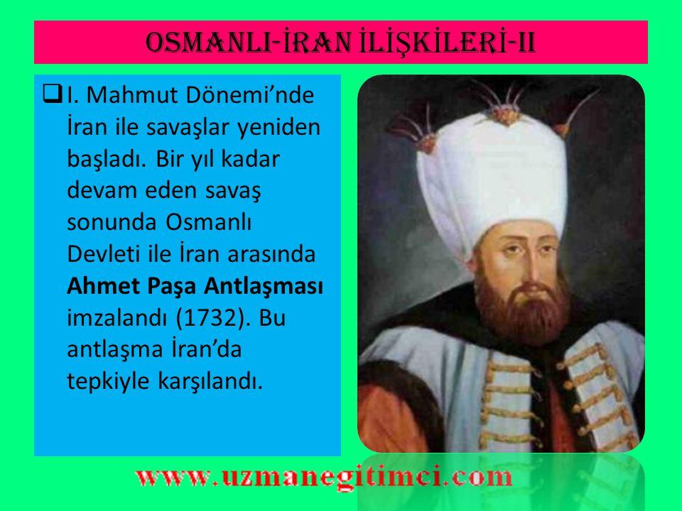 OSMANLI-İRAN İLİŞKİLERİ-II