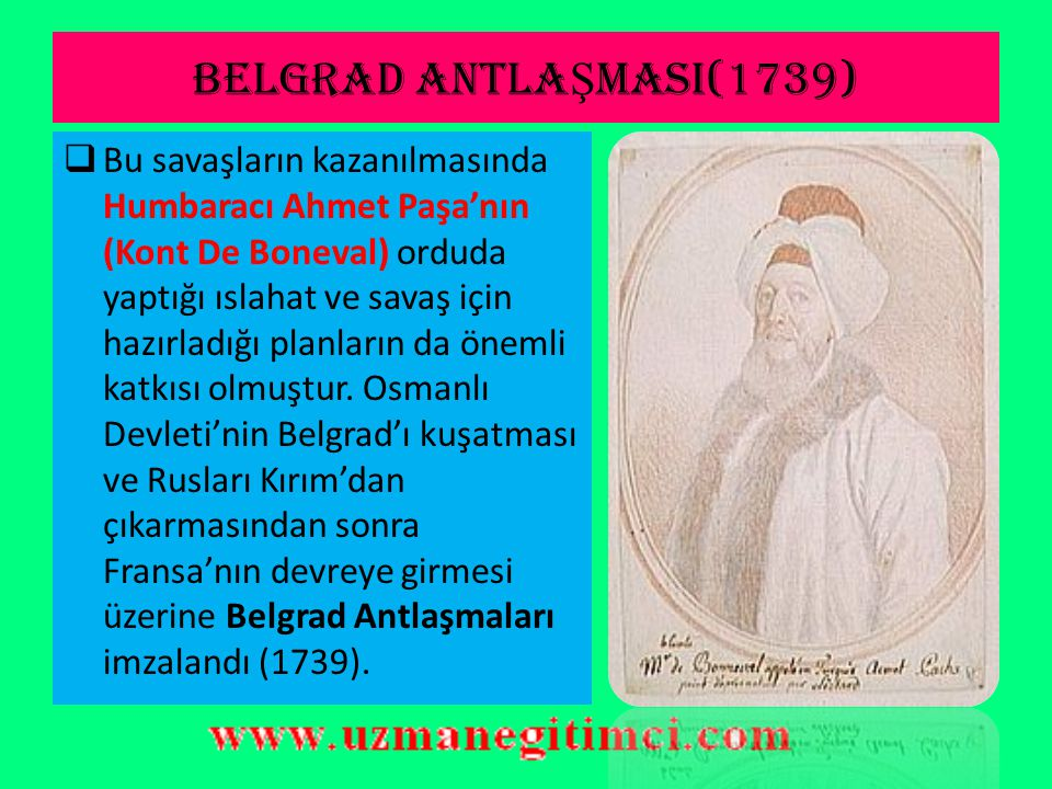 BELGRAD ANTLAŞMASI(1739)