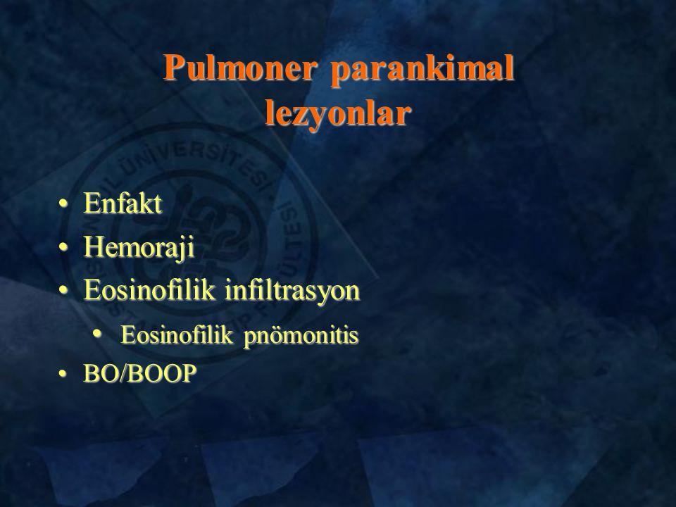 Pulmoner parankimal lezyonlar
