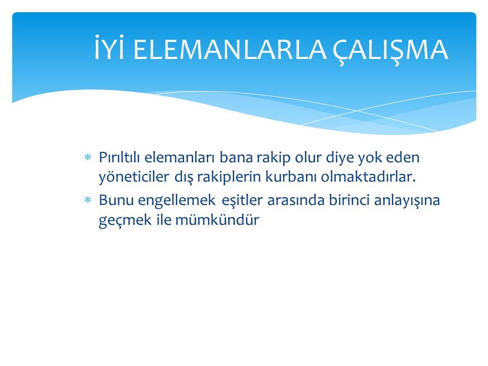 İYİ ELEMANLARLA ÇALIŞMA