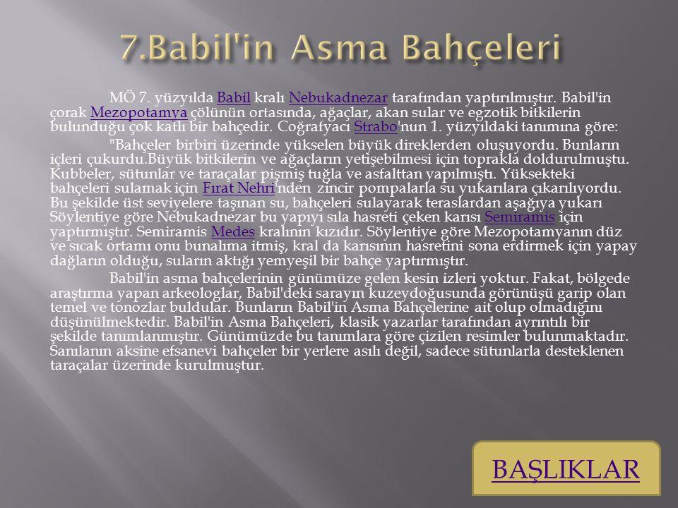 7.Babil in Asma Bahçeleri