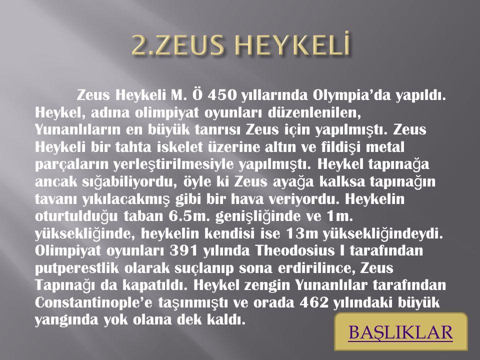 2.ZEUS HEYKELİ BAŞLIKLAR