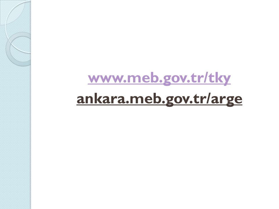 www.meb.gov.tr/tky ankara.meb.gov.tr/arge
