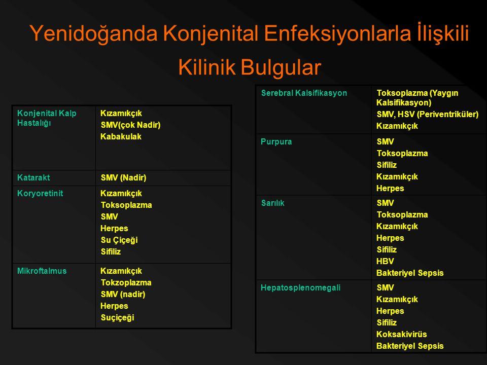 Yenidoğanda Konjenital Enfeksiyonlarla İlişkili Kilinik Bulgular