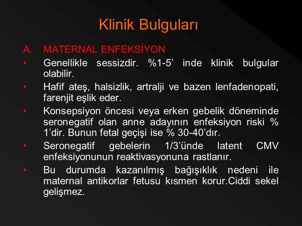 Klinik Bulguları MATERNAL ENFEKSİYON