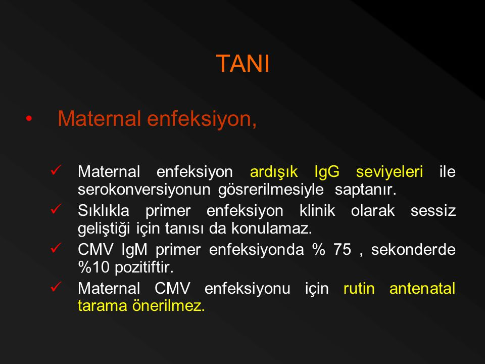 TANI Maternal enfeksiyon,