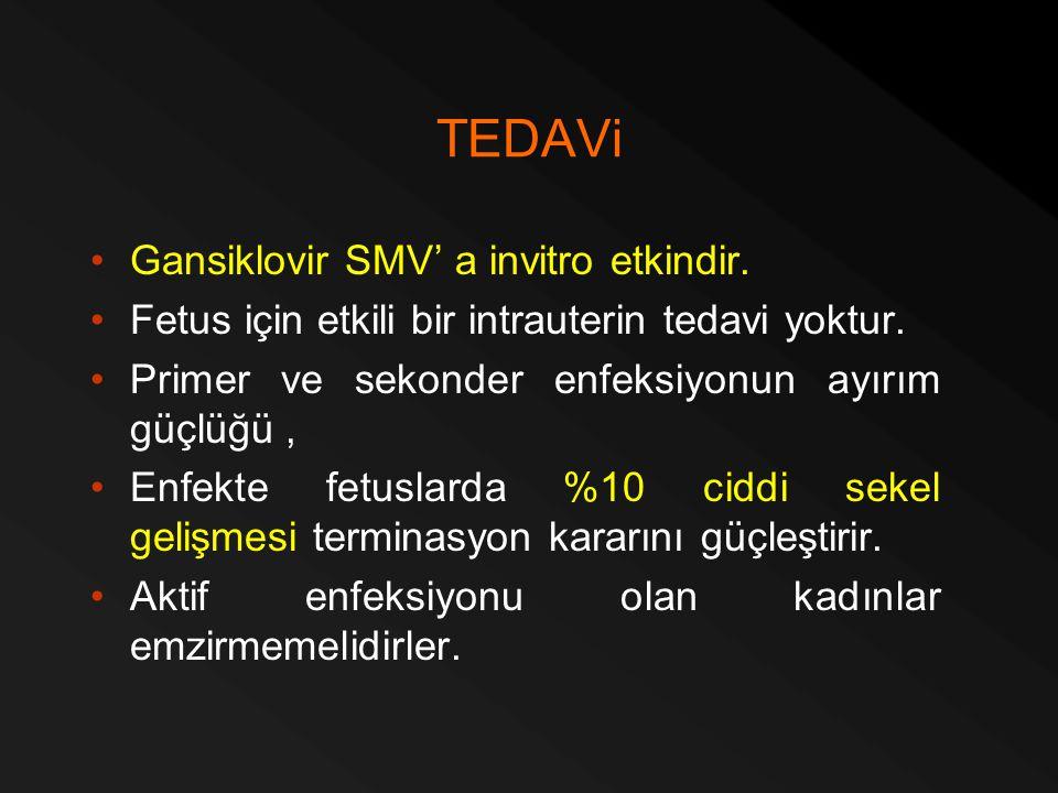 TEDAVi Gansiklovir SMV' a invitro etkindir.