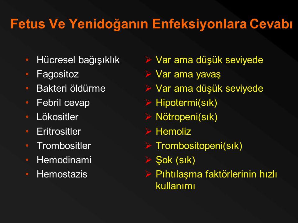 Fetus Ve Yenidoğanın Enfeksiyonlara Cevabı