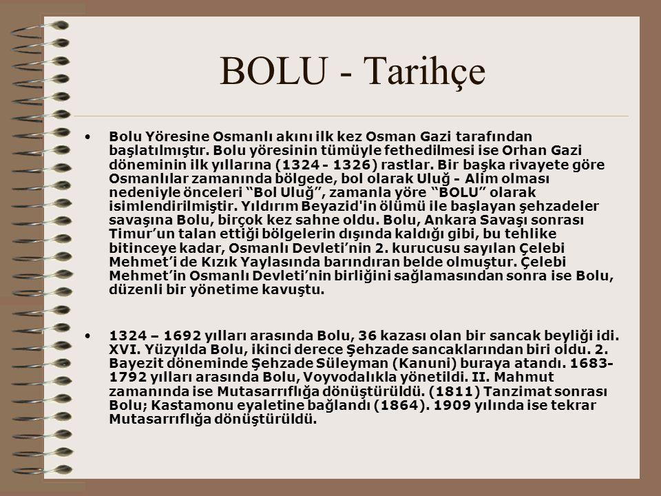 BOLU - Tarihçe