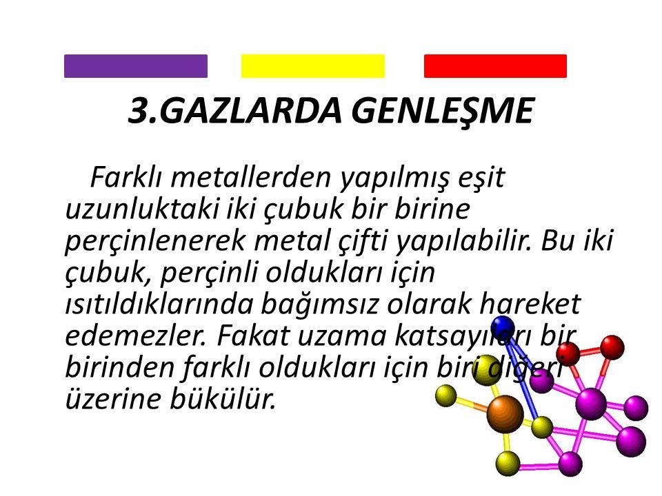 3.GAZLARDA GENLEŞME