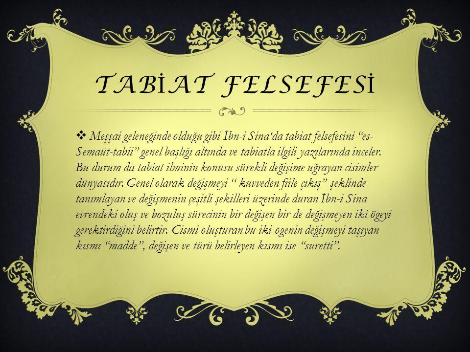 tabİAT FELSEFESİ